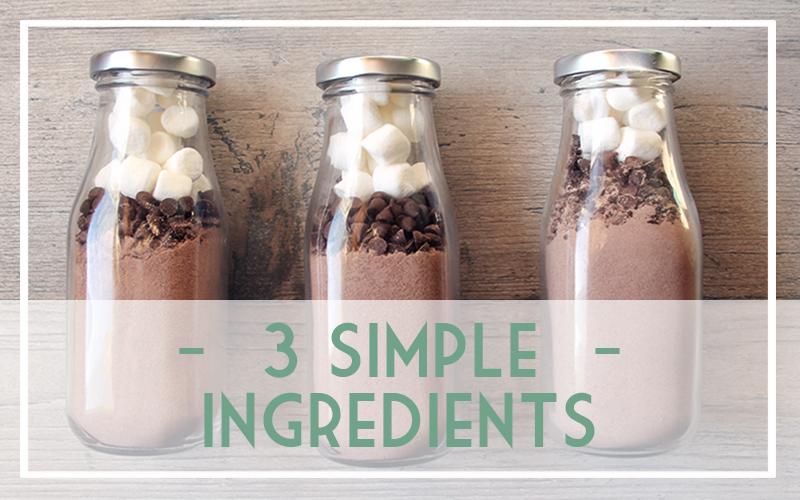 Make Hot Cocoa Milk Bottles