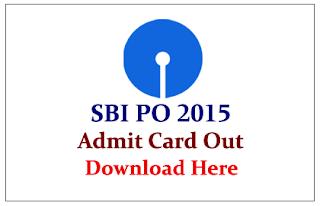 SBI PO Preliminary Exam 2015 Admit Card Released