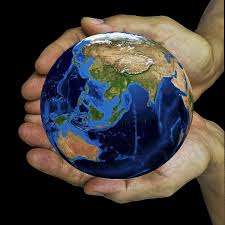 """picture shows """"Save our Beautiful Blue Planet"""""""