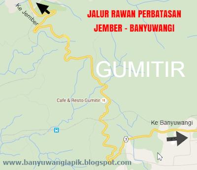 Jalur rawan di gunung Gumitir di perbatasan Jember-Banyuwangi.