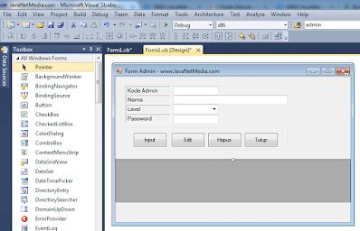 VB .Net - Cara Memunculkan Item Data Pada ComboBox