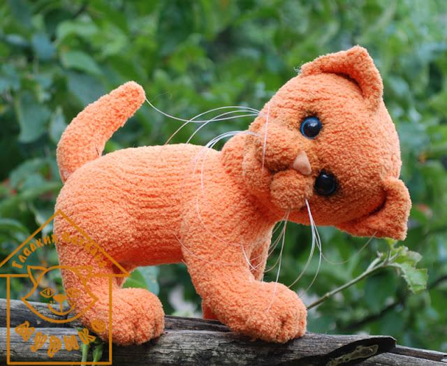 Кот, котенок, мурико, авторская игрушка, амигурами, подарок, игрушки
