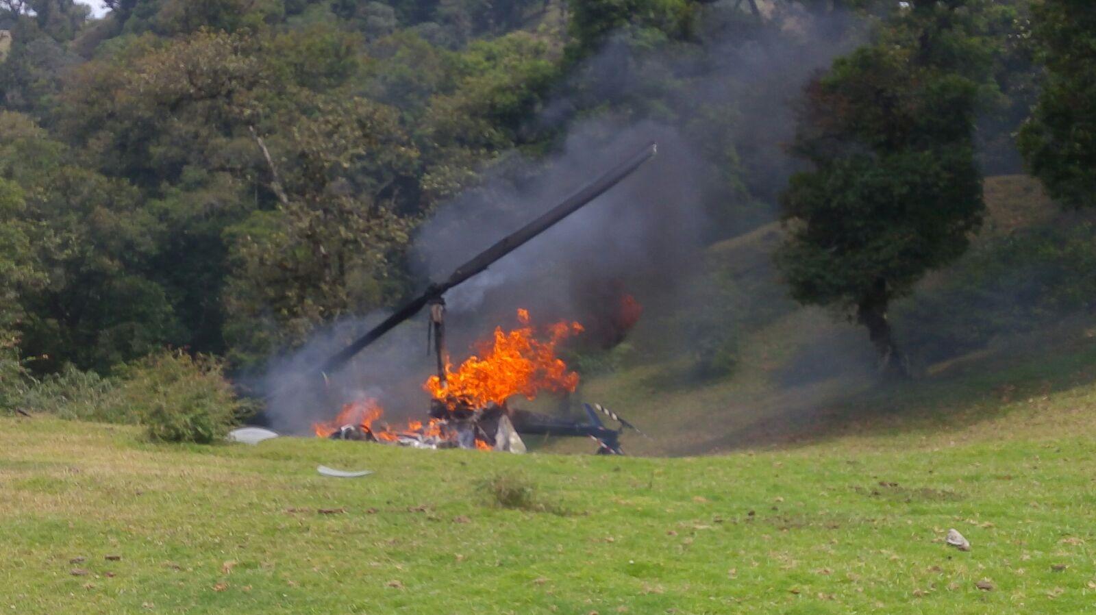 Cae helicóptero en la Sierra de Chiconquiaco