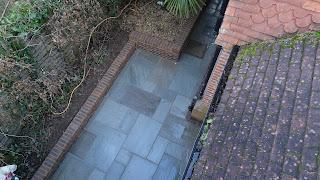grey sandstone side path
