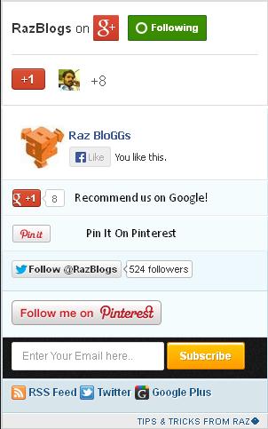 Mashable Style Social Sharing Widget