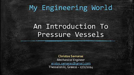 An Introduction To Pressure Vessels