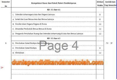 Prota, Promes dan Kalender Pendidikan IPS Kelas IX/ 9 SMP/ MTs Kurikulum 2013 Revisi 2018
