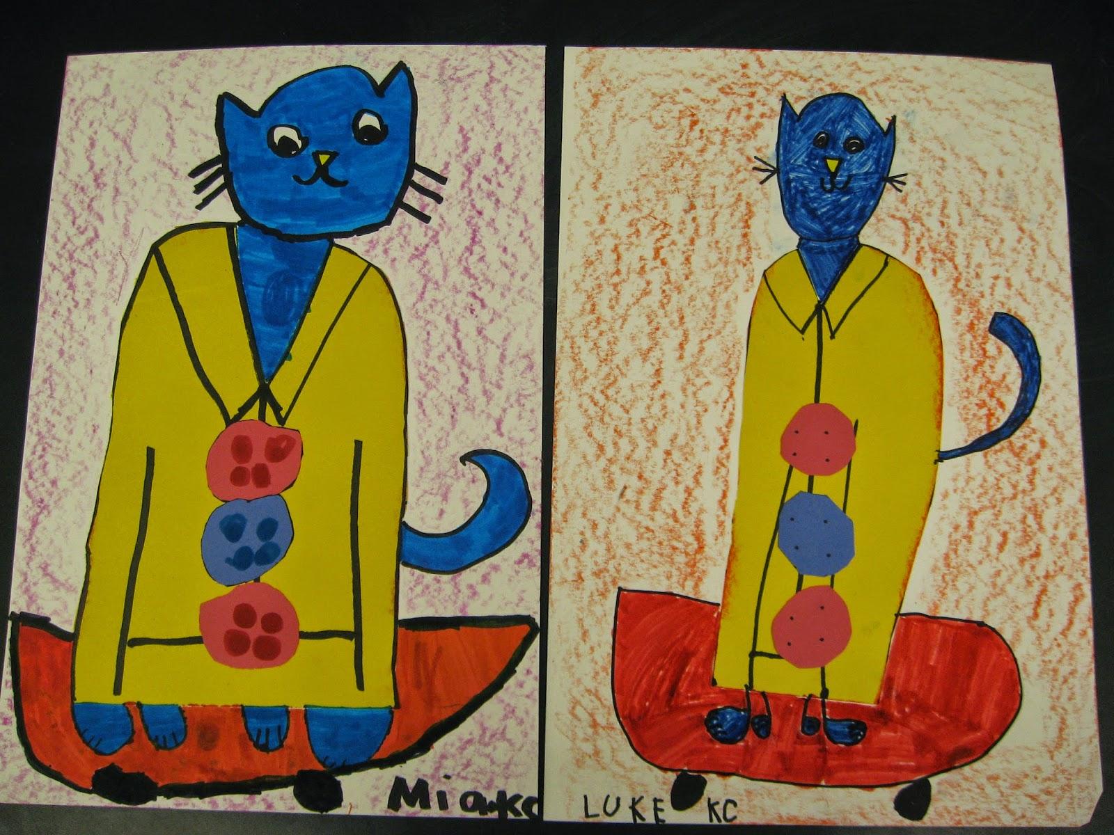 Jamestown Elementary Art Blog Kindergarten Pete The Cat