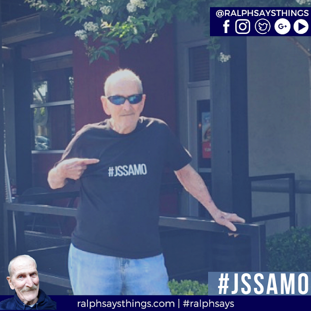 "#RalphSays ""#JSSAMO"" - which is ""Just Say Shit and Move On"""