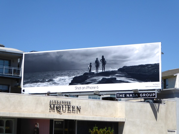 Shot on iPhone 6 surfers billboard