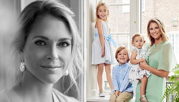Princess Madeleine wore Chloe dress, Princess Leonore wore Howtokissafrog Cate dress, Princess Adrienne wore Polarn O. Pyret dress