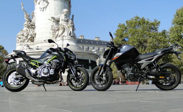 Duel KTM 790 Duke VS Kawasaki Z900