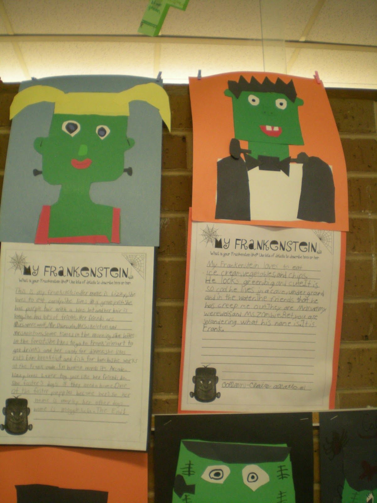Third Grade Love Frankenstein Writing Amp Freebies