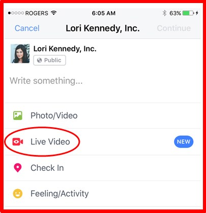 how to go live on facebook on pc