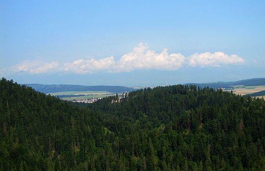 Widok na Hrabušice (węg. Káposztafalva, pl. Hrabuszyce).