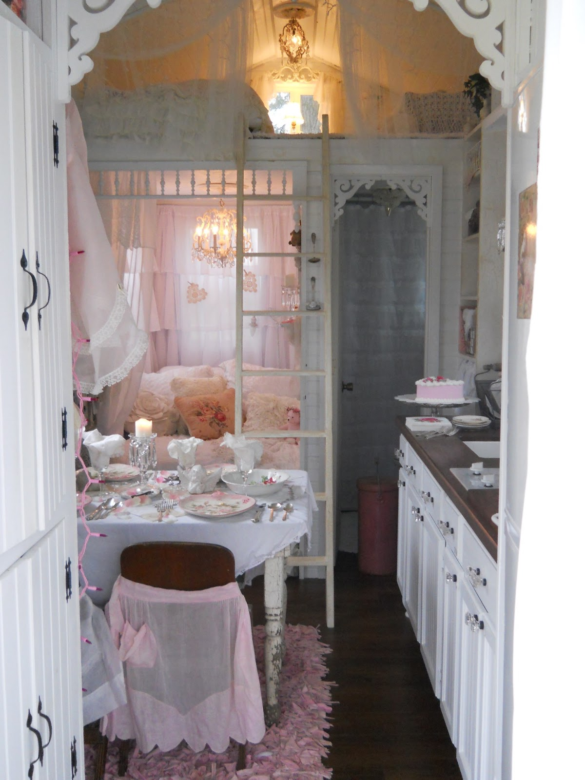Shabby Chic Tiny Retreat Hosting A Party In A Tiny House