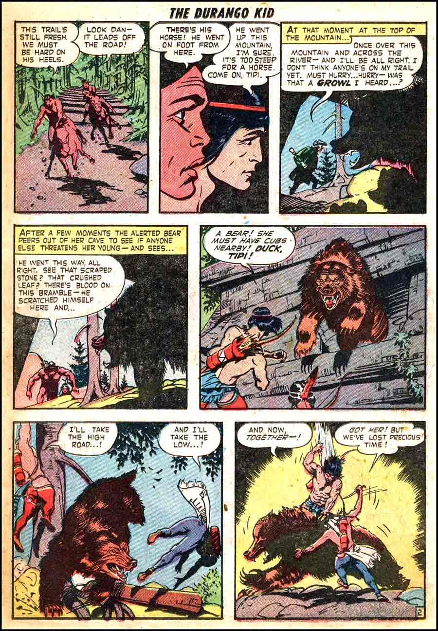 Frank Frazetta 1950s golden age western comic book page / Durango Kid #13
