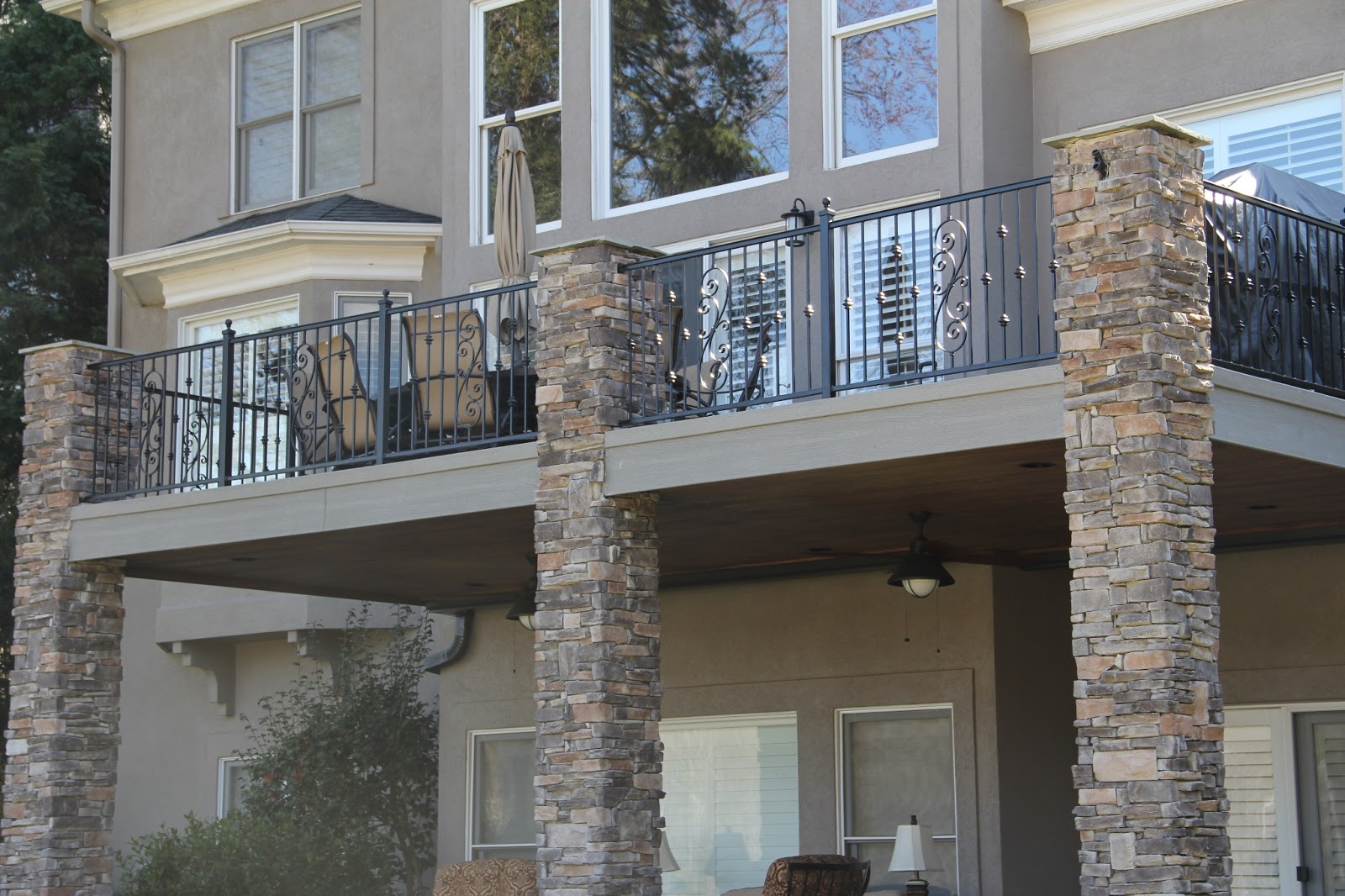 New home designs latest.: Modern homes wrought iron