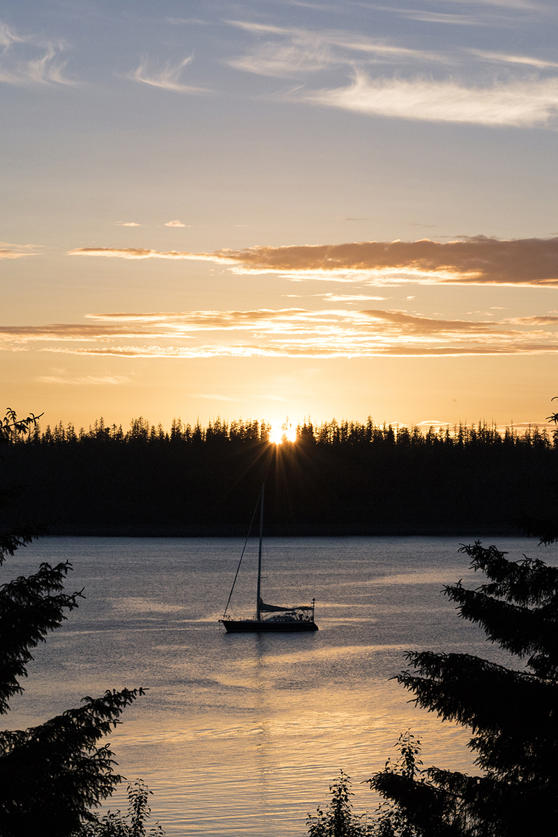 lumiere lens, midnight sun, alaska, golden sunset, sunset in alaska