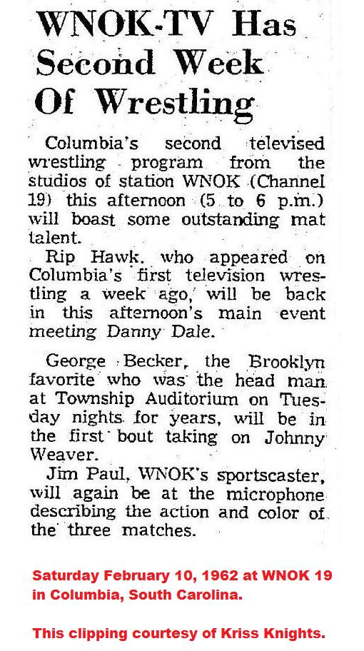 All Star Championship Wrestling: 1962