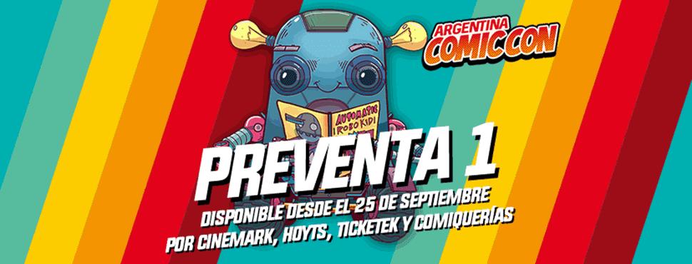 Preventa entradas Comic-Con Argentina