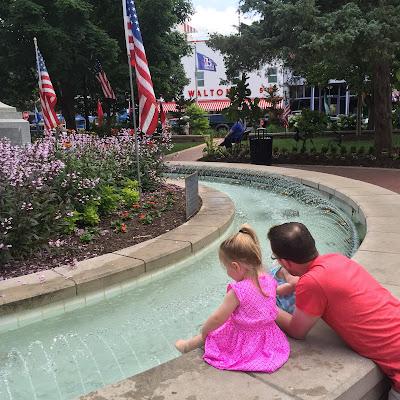 Bentonville square fountain