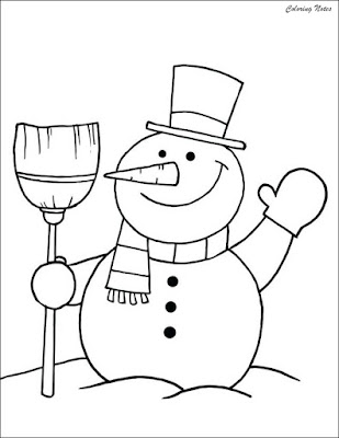 Cute Snowman Coloring Pages For Toddlers Free