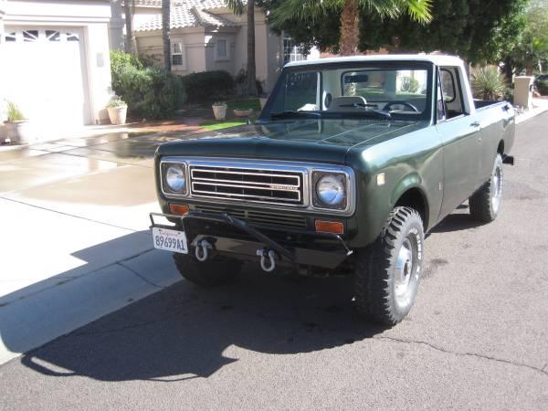 Rare 4x4, 1975 IH Scout Terra Pickup