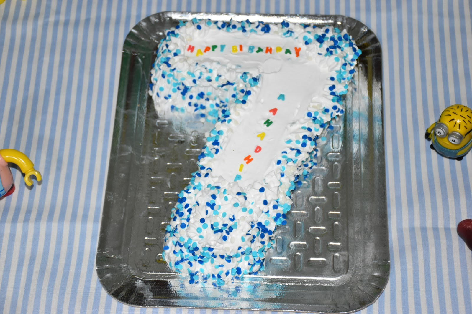 Mahaslovelyhome How To Make 7 Number Birthday Cake Number 7
