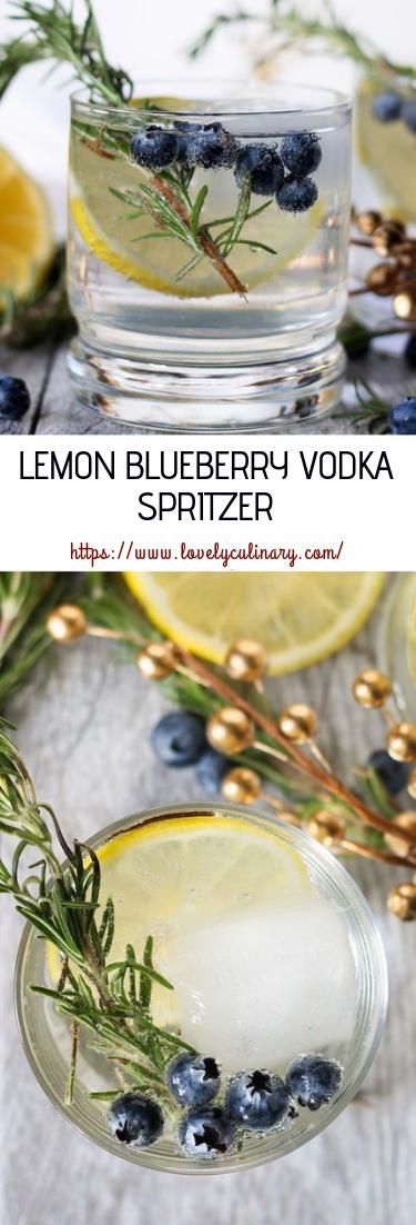 LEMON BLUEBERRY VODKA SPRITZER #cocktail #recipedrinks