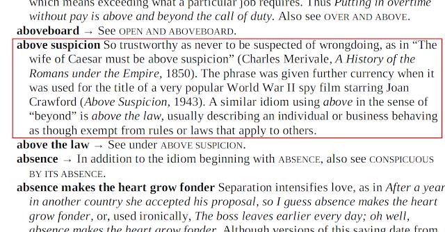 Arti Above Suspicion