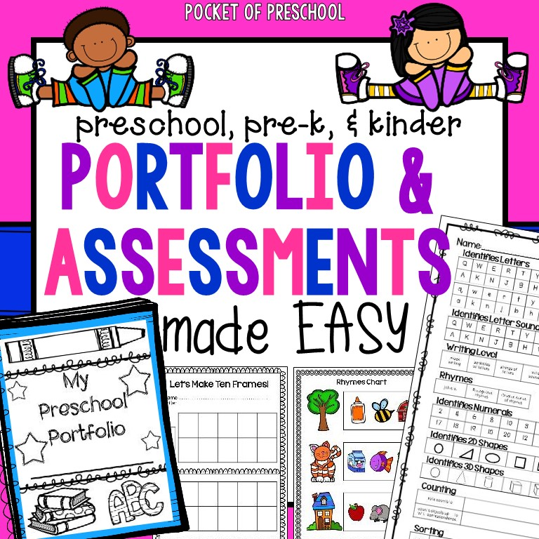 Portfolio Made Easy & GIVEAWAY - Pocket of Preschool