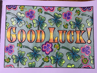 OrnaMENTALs Feel Good Words To-Go coloring book by Sue Chastain