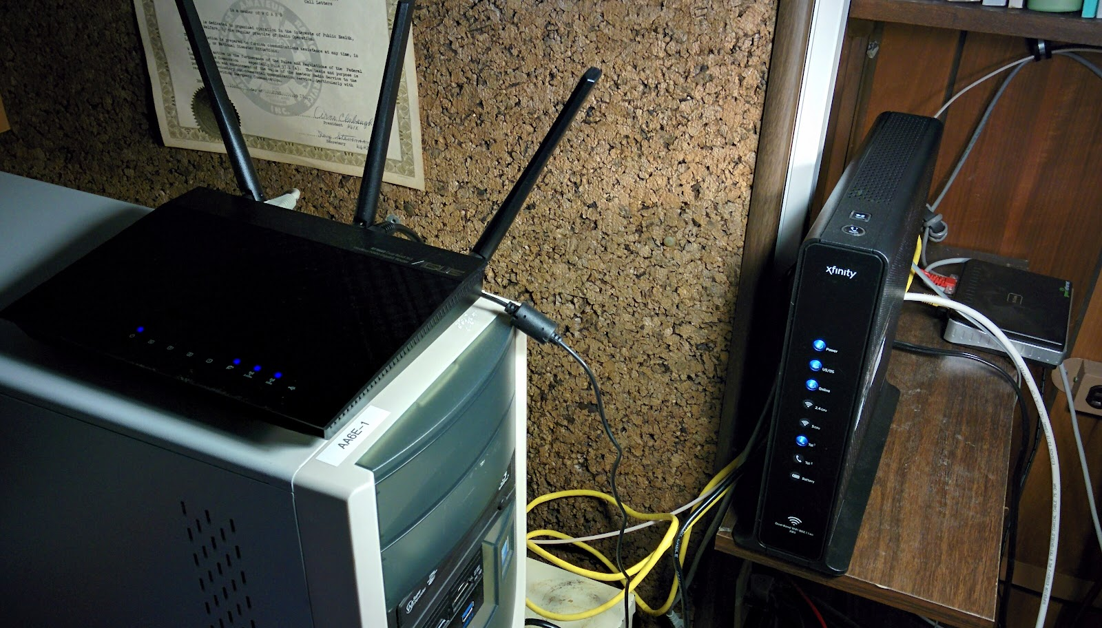 AA6E Station Log: More Network Fun: Asus, HP, and Xfinity
