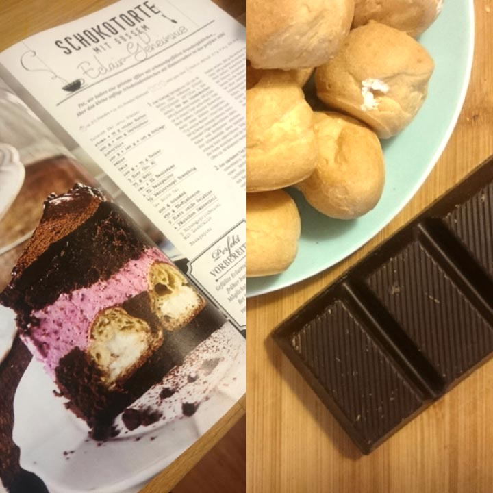 Windbeutel-Torte mit TK-Windbeuteln