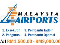 JAWATAN KOSONG TERKINI DI MALAYSIA AIRPORT BERHAD - PELBAGAI JAWATAN / RM1,500.00 - RM9,000.00