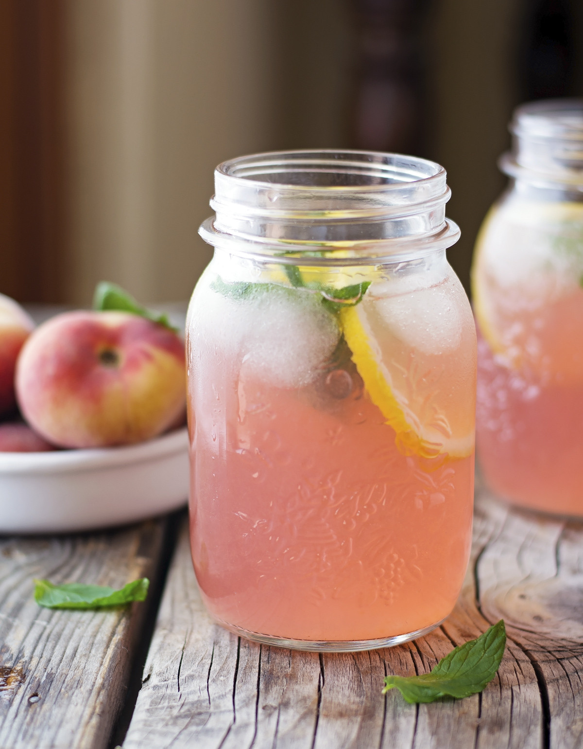 Peach Mint Lemonade