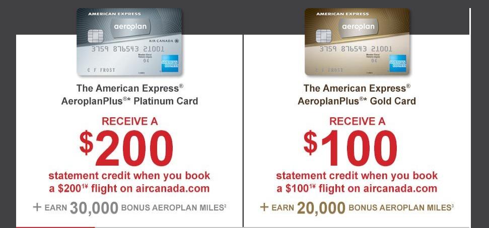 amex aeroplan cards