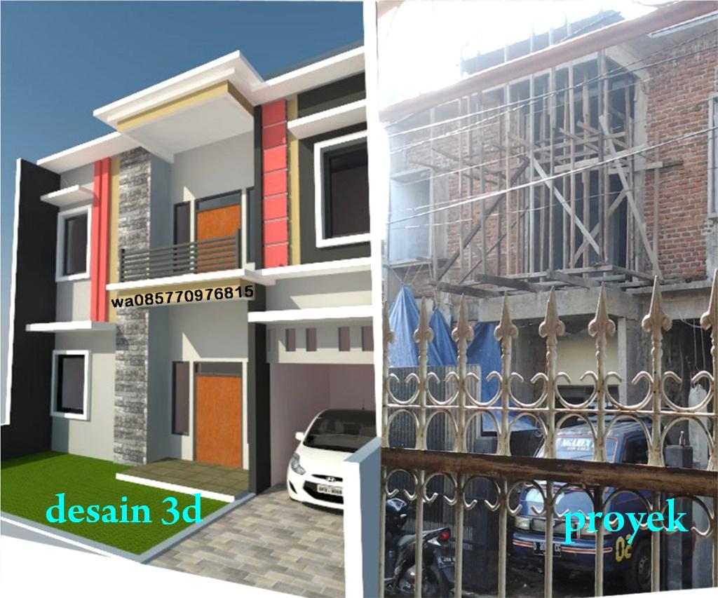 Desain rumah 3dtamankolam koi bandung