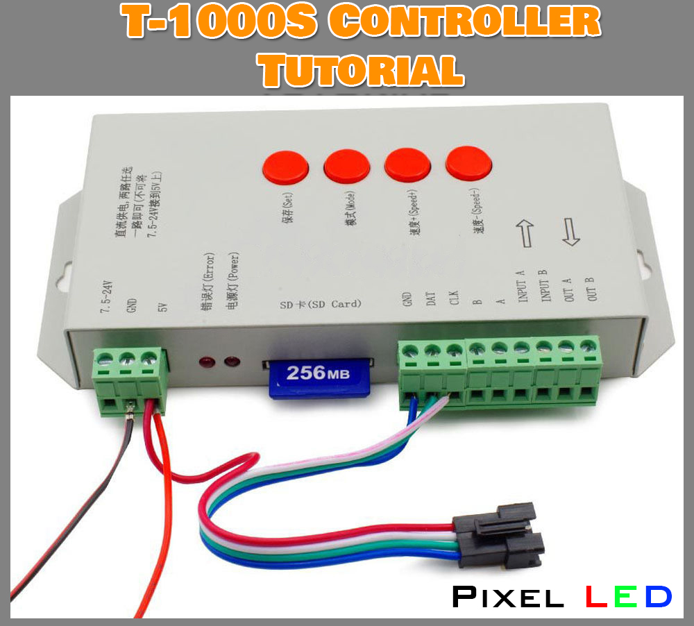 T 1000s Pixel Led Controller Tutorial Learn It Step By Step