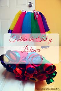 http://haciendomiarte.blogspot.mx/2016/03/falda-de-tul-y-listones-de-colores.html