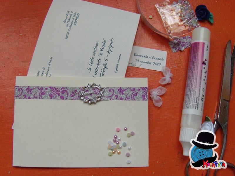 invito nozze argento