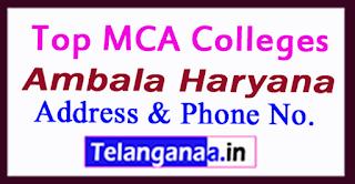 Top MCA Colleges in Ambala Haryana