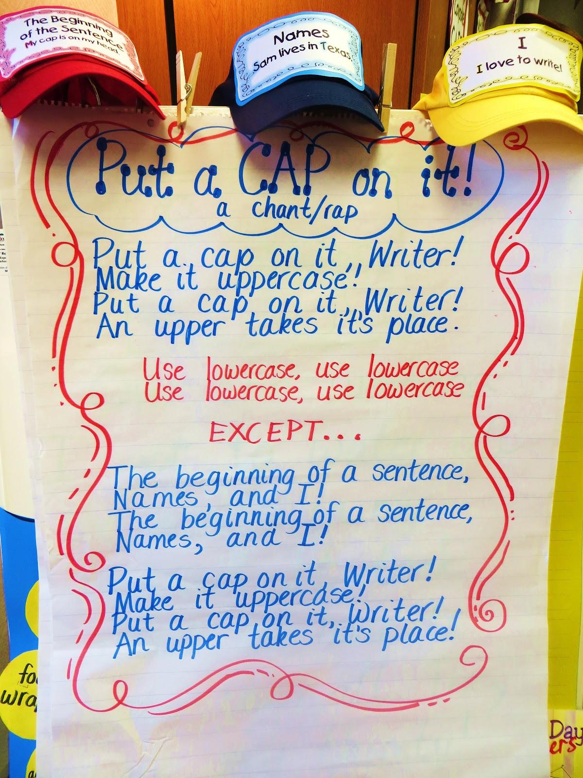 First Grade Wow: Put A Cap On It
