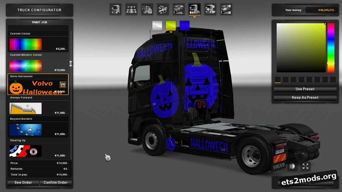 Halloween Skin for Volvo 2012