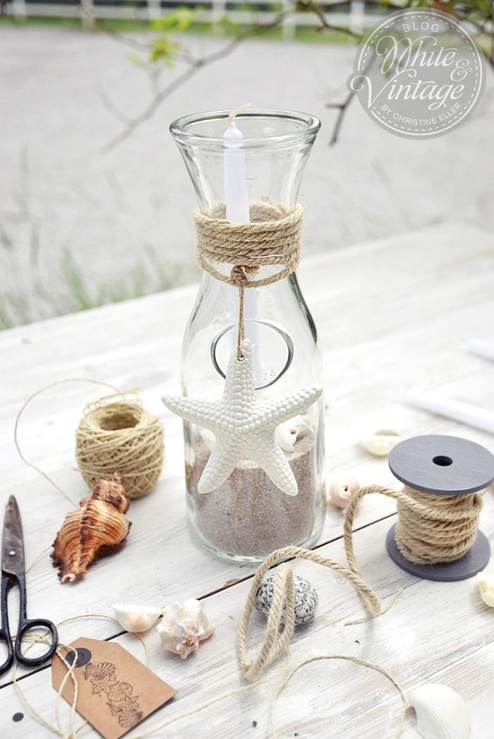 Windlichter aus Glasflaschen selber machen: Deko und DIY Blog White and Vintage