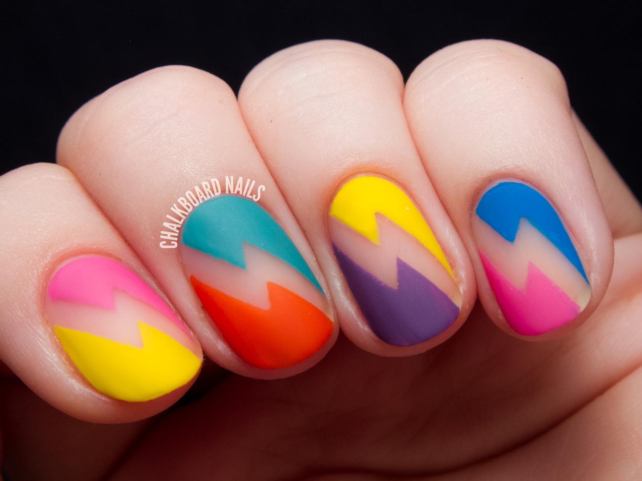 Nail Art: Deborah Lippmann 80s Rewind Nail Art