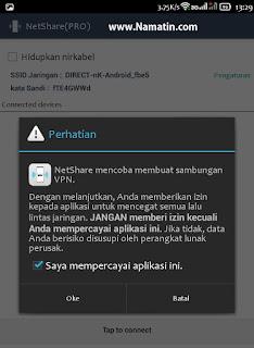share koneksi wifi ke hp android lain