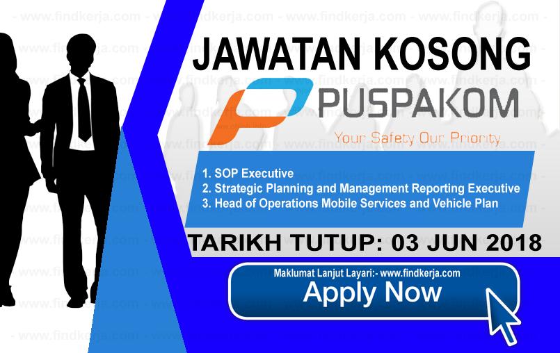 Jawatan Kerja Kosong Puspakom Sdn Bhd logo www.findkerja.com jun 2018