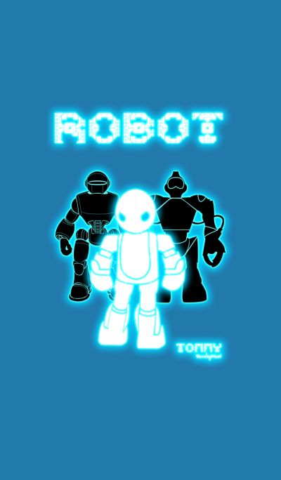 Blue Robot Theme